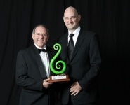 2010 Hall of Fame Winner - Monty Knight with Alex Lawson from the Northern Advocate